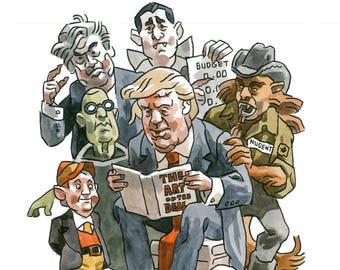 Republican Monster Mash giclee print