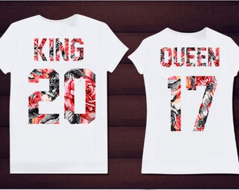 5ea2055047 King Queen red and black roses couple set tshirts family shirts cotton gift  for couple cool matching set unusual tshirts Bonnie Clyde