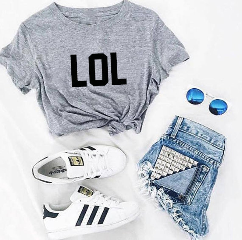 14e970ba0749f LOL tshirt woman streaming shirt tshirt woman clothing gifts for fashion  tshirt white blue red unisex a quote girl street culture