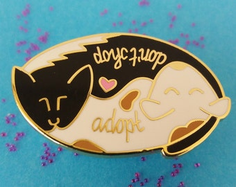 Adopt Don't Shop Cat and Dog Rescue animals Pin