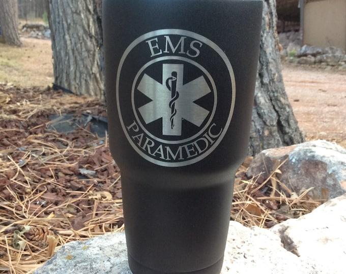 Paramedic Star Of Life - Polar Camel 30oz Tumbler - Similar to Yeti/RTIC Tumbler - EMT Gift - Paramedic Gift
