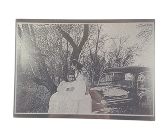 Wedding Portrait On Marble - Convert Any Photo To Black Marble - Send Us A Picture To Print To This Beautiful Marble