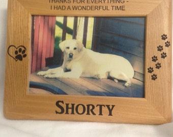 Engraved Pet Memorial  - Black Hills  - Custom Pet Memorial - Customized Pet Keepsake