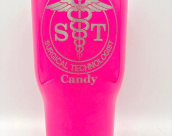 Surgical Technologist - RTIC 20 ounce Powder Coated Tumbler - Similar to Yeti Rambler - ST Surgical Technologist Gift