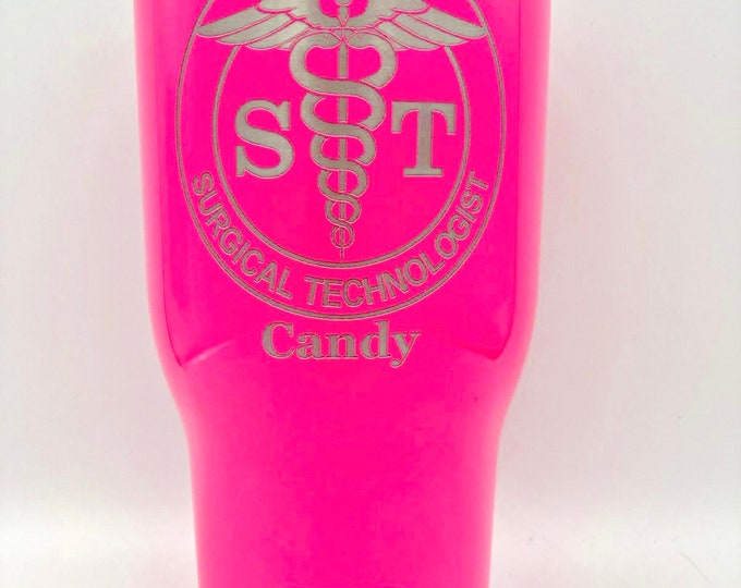 Surgical Tech Tumbler - RTIC 20 ounce Powder Coated Tumbler - Free Shipping - Similar to Yeti Rambler - ST Surgical Technologist Gift