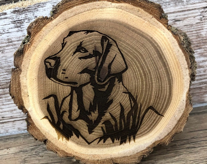 Labrador Retriever Engraved Wooded Coasters- Old West Log Coasters