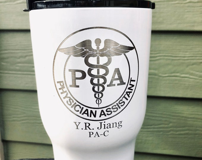 Physician Assistant RTIC 20 Ounce Powder Coated Tumbler -- Similar to Yeti Rambler -