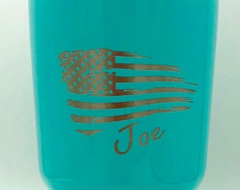 American Flag Personalized Mug - RTIC 30 Ounce Cup - Insulated, Vacuum Sealed, Double Wall Tumbler - Cold For 24 Hours, Hot For 6 H