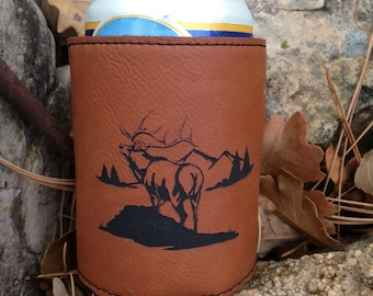 Engraved Leatherette Beverage Holder - Personalized Beverage Holder - Personalized Gift - Personalized Leather Gift