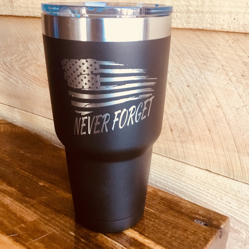 LEO Hot For 6 H Vacuum Sealed Insulated EMS Veteran Cold For 24 Hours Fire Fighter Double Wall Tumbler Never Forget