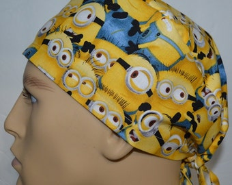 94395742c97 Minions Packed Yellow Surgical Scrub Cap Hat