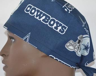 0e568f872fd5f Dallas Cowboys NFL Navy Unisex Surgical Scrub Hat Cap