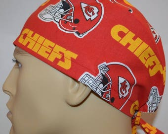 254da0d24d51d Kansas City Chiefs NFL Red Unisex Surgical Scrub Hat Cap