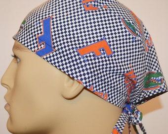 new concept 49e8a 82b8d Florida Gators NCAA Check Unisex Surgical Scrub Hat Chemo Cap