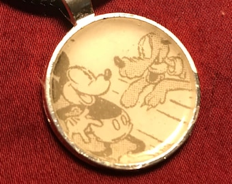 Mickey Mouse and Pluto Vintage pendent