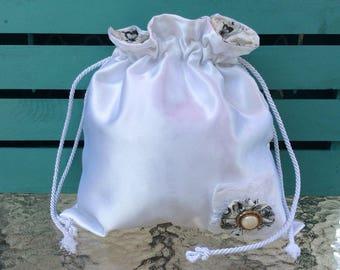 Handmade satin bridal dance dollar bag wedding dance bag  683b4e69db191
