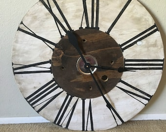 Large Farmhouse Clock