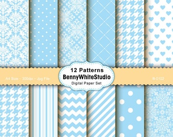 12 Digital Papers. For Your Scrapbooking and Handmade Projects. Personal and Small Commercial Use. B-0102.