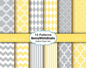 12 Digital Papers. For Your Scrapbooking and Handmade Projects. Personal and Small Commercial Use. B-0108.
