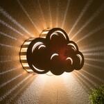 Cloud Night Light - Wall Hanging Baby & Kid's Room Lamp - Nature Decor - Wooden Lasercut Accent Lighting - Laser Cut Nightlight