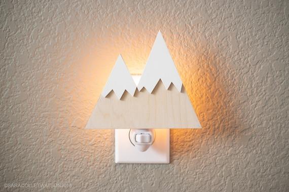 Mini Mountain Plug In Night Light Woodland Nursery Decor Etsy