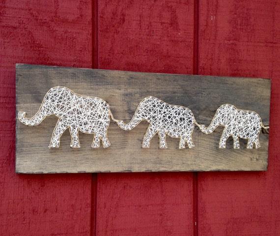 Baby Elephant Elephants Little Elephant String Art Etsy