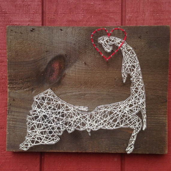 Cape Cod String Art Can Be Customized Nail Art Wall Art Etsy