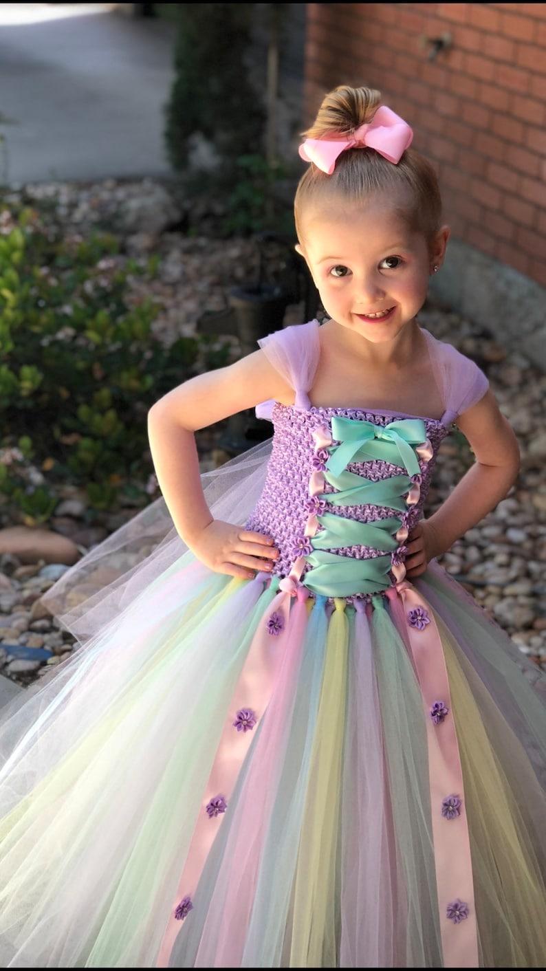 0dfae1f3c168 Easter Tutu Dress Easter Dress Pastel Easter Dress   Etsy