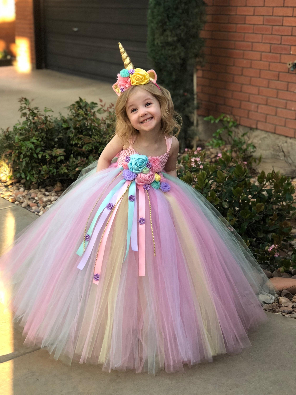 b79c2084e Unicornio Tutu vestido-vestido de cumpleaños de unicornio-cuerno de  unicornio-traje de unicornio-Vestido de cumpleaños-traje de halloween-traje  de ...