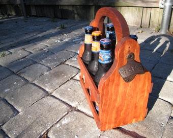 Handmade Beer Carrier Beer Tote Wooden Craft Beer wood beer caddy