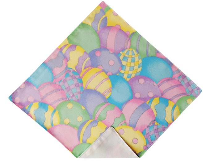 Adult Men/'s /& Boy/'s Sizing Handcrafted in the USA Multi-colored Spring Celebration of Holiday Eggs Easter Self-Tie Bow Tie