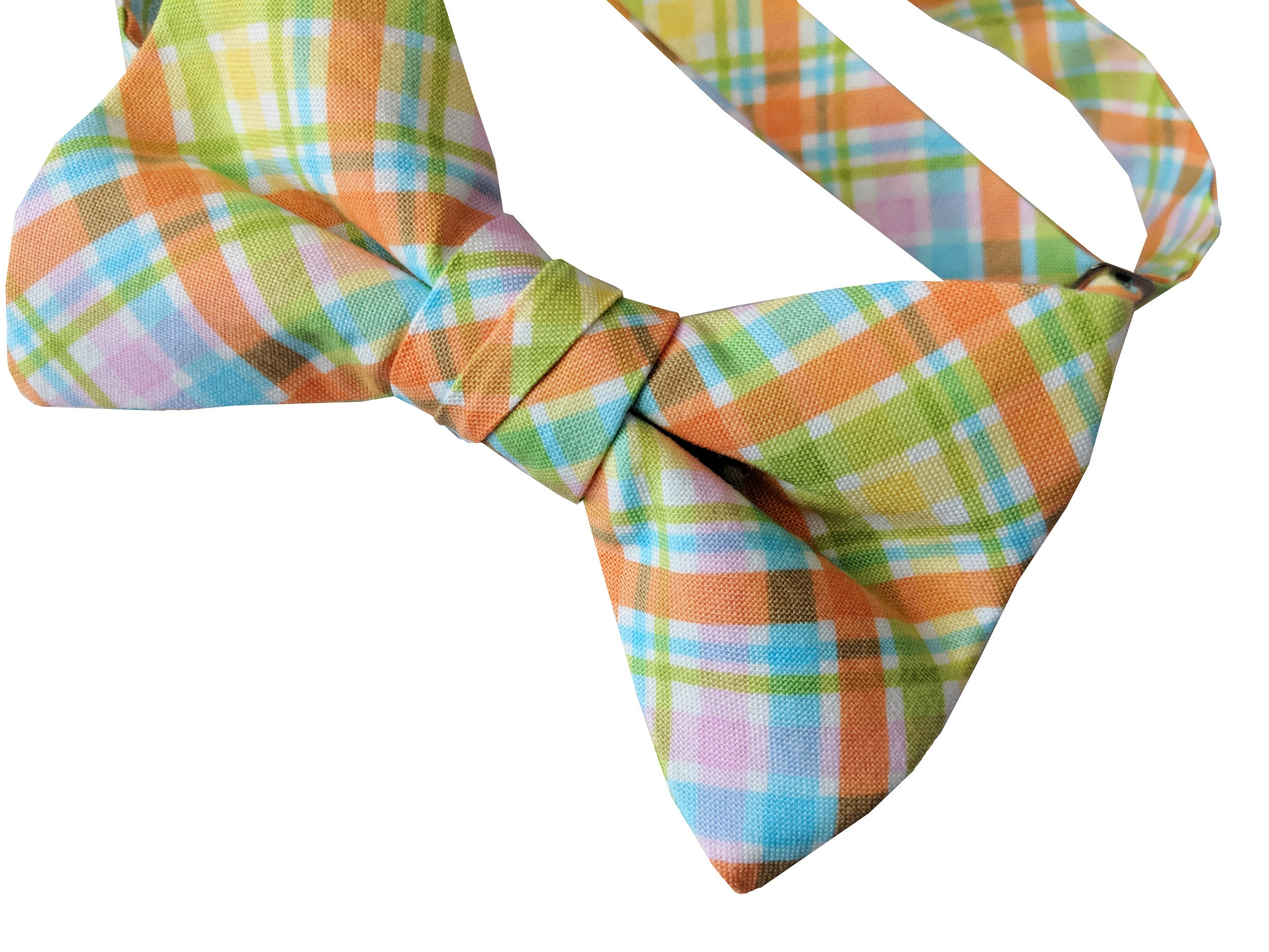 Spring Plaid Colorful Easter Holiday Celebration Adult Men/'s to Baby Sizing Pre-tied Bow Tie Crafted in the USA