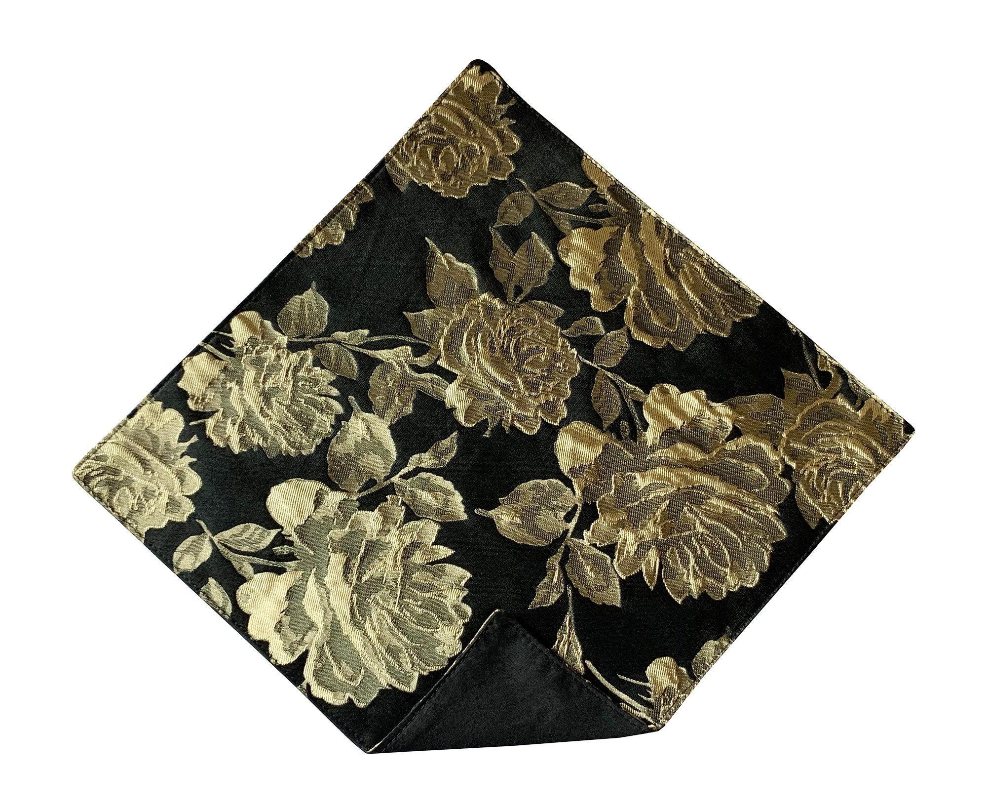 Paisley Print Boys Handkerchief Boys Gold Pocket Square Pocket Handkerchief
