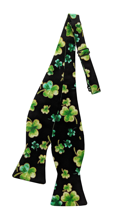Boys St Patrick/'s Day Neck Tie Green /& Gold Shamrocks