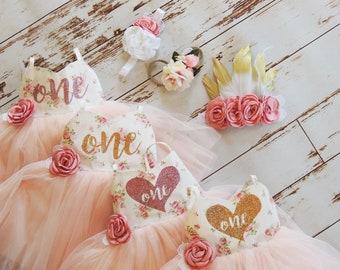 Baby Girl Birthday Dress Minnie Mouse Dress Second Birthday Dress Pink Floral Tutu Party Dress Easter Dress Boho Baby Birthday Girl