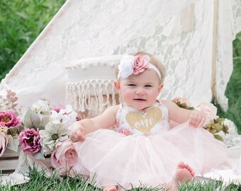 81144be52e92 Birthday Outfit First Birthday Any Birthday Tutu Dress Floral Pink Birthday  Outfit Boho Birthday Wild One Birthday Flower Girl Dress Party