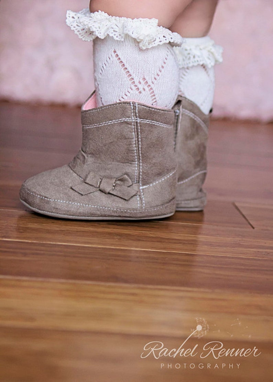 Baby Socks with Lace Baby Girl Boot Socks Baby Girl Newborn Gift Christmas Gift Idea Stocking Stuffer Baby Leg Warmers Baby Lace Socks