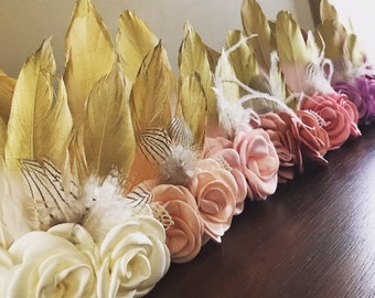 Feather Headband Boho Baby Girl Wild One Birthday Girl Boho Headband Baby Girl Birthday Boho Baby Outfit Boho Girl Clothes First Birthday