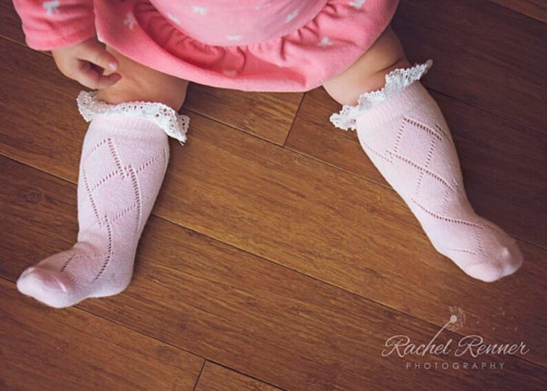 Baby Socks With Lace Baby Girl Boot Socks Baby Girl Newborn Etsy