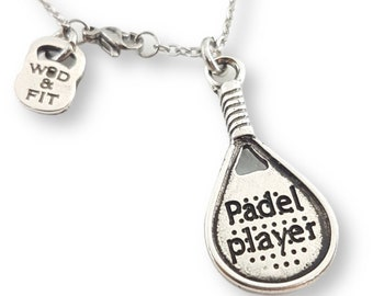 Necklace Padel Tennis Name Gift for Padel Lover,Padel Tennis gift,Gift for Padel,Padel Tennis Woman,Paddle tennis Gift,padel Sport Gift