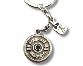 Weight Plate Gym Gift Keychain - Workout Gift - Best Coach - Weight lifting - Lifting Gift - Crossfit Gifts - Gym life - Gym Rat - Wod & Fit