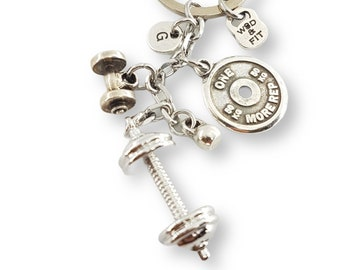 Gym Gift Keychain Barbell Forearms Workout - Bodybuilder Gift - Crossfit Lover - Gym Gift - Fitness Motivation - weight Lifter Gift - Sport