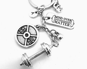 Gym Keychain Mike Workout Gift Barbell Weight Plate - Weight lifting -Motivation Gift-Fitness-Bodybuilding Gifts-Crossfit-Gym Gift-WOD & FIT