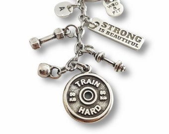 TRAIN HARD Workout Gift - gym motivation - Motivation Gift- Exercise gift- Gym gifts- gift for gym - Weightlifting - Trainer gift  Wod & Fit