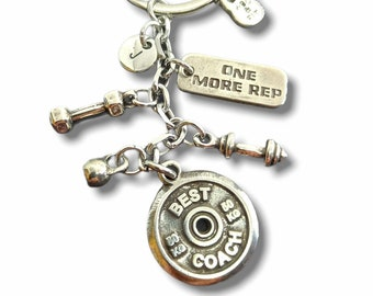 BEST COACH Keychain - Gym gifts - Name Gift -Gym Motivation Gift - Exercise gift - coach gift - Work out Gift - Trainer Gift - Wod & Fit