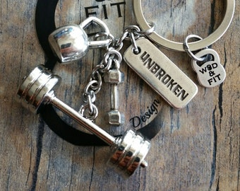 Keychain Challenge Workout Barbell,Kettlebell,Dumbbell & Motivation Fitness,Weight lifting,Bodybuilding,Coach Gift,Barbells Jewelry,Crosstra