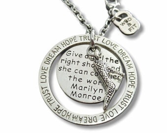 Motivational  Girl Necklace Love Dream Hope Trust . BFF gift- Mom gift - gift for sister- wife gift -boss gift - big sister gift - Wod & Fit