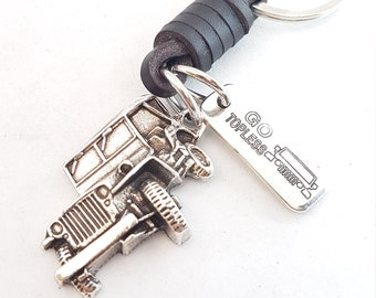 Keychain Willys Leather Custom Word Offroad 4x4 Accessorios - Todoterreno - Off Road - Love Offroad - 4x4- Wrangler - Rubicon - Jeep Gift