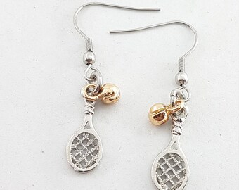 Paddle Shovel Earrings with Ball Paddle-Tennis Gift for Padel Lover -Padel Tennis gift -Gift for Padel - Paddle Shovel Gift- Woman Earrings
