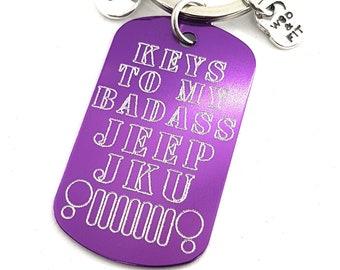 llavero  Keys To My BADASS 4x4 Your Model - Llavero regalo Offroad - Wrangler - Renegade  Rubicon - Jeep JK - JKU - Willys - Cruiser - Rover